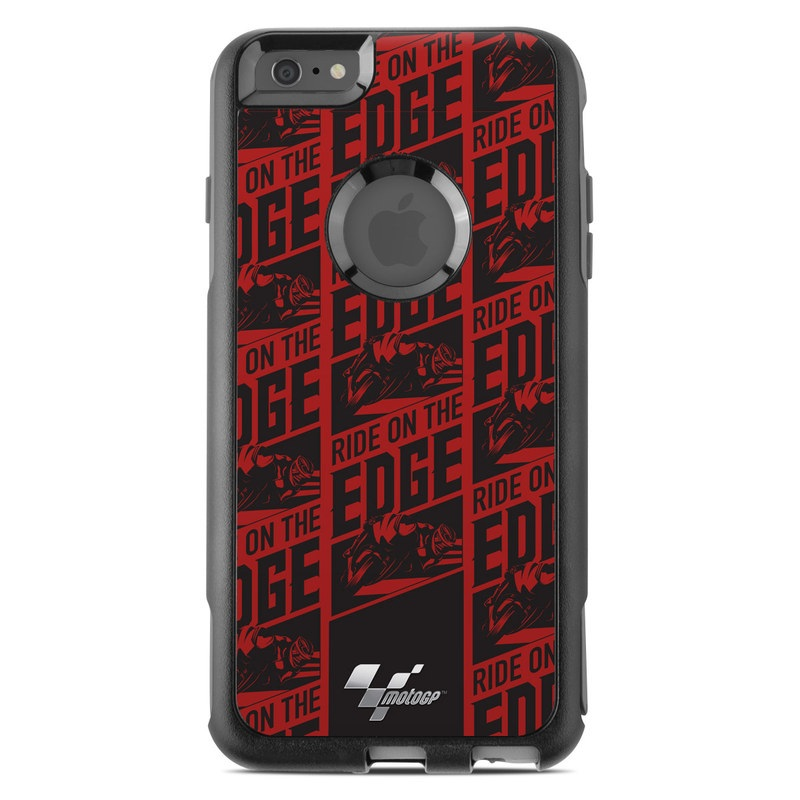 OtterBox Commuter iPhone 6s Plus Case Skin design of Pattern, Red, Maroon, Plaid, Design, Line, Font, Textile, Woven fabric with black, red colors