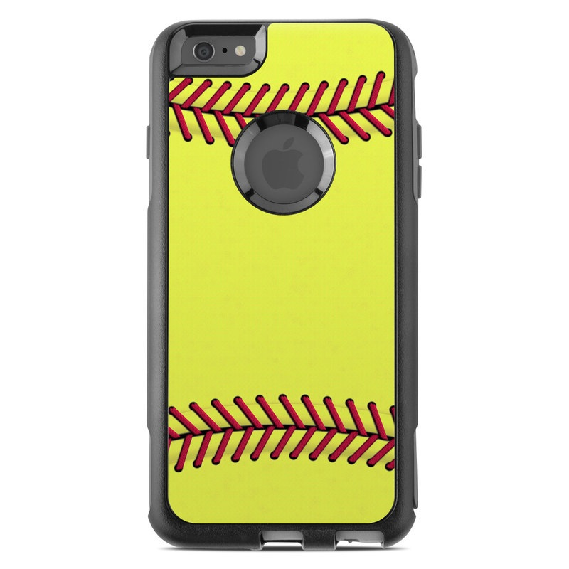OtterBox Commuter iPhone 6s Plus Case Skin design of Yellow, Line, Parallel with green, red, black colors