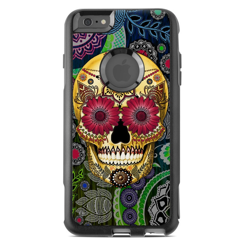 Sugar Skull Paisley OtterBox Commuter iPhone 6s Plus Skin