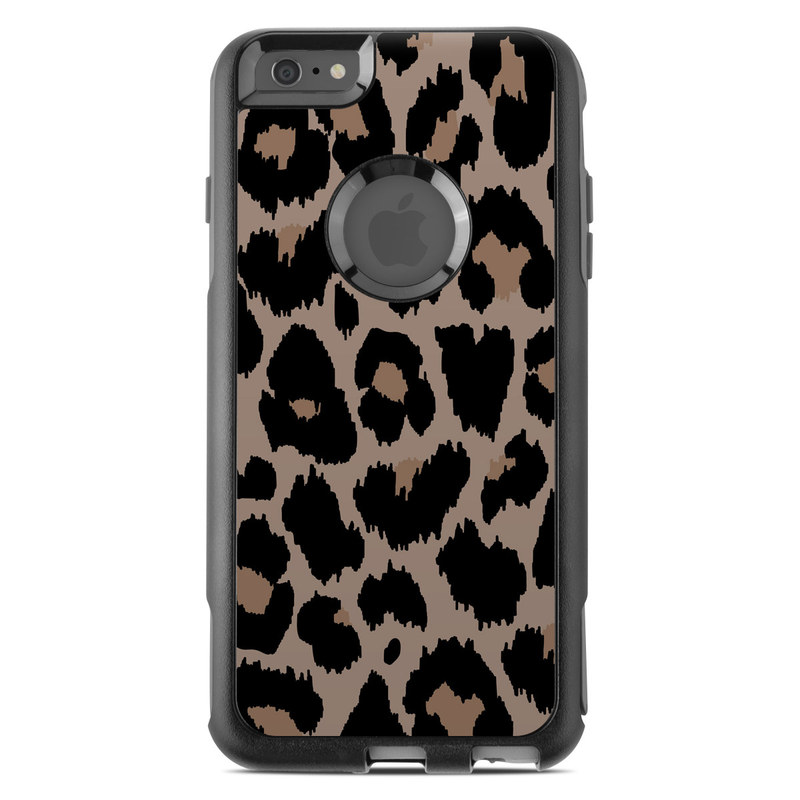 OtterBox Commuter iPhone 6s Plus Case Skin design of Pattern, Brown, Fur, Design, Textile, Monochrome, Fawn with black, gray, red, green colors