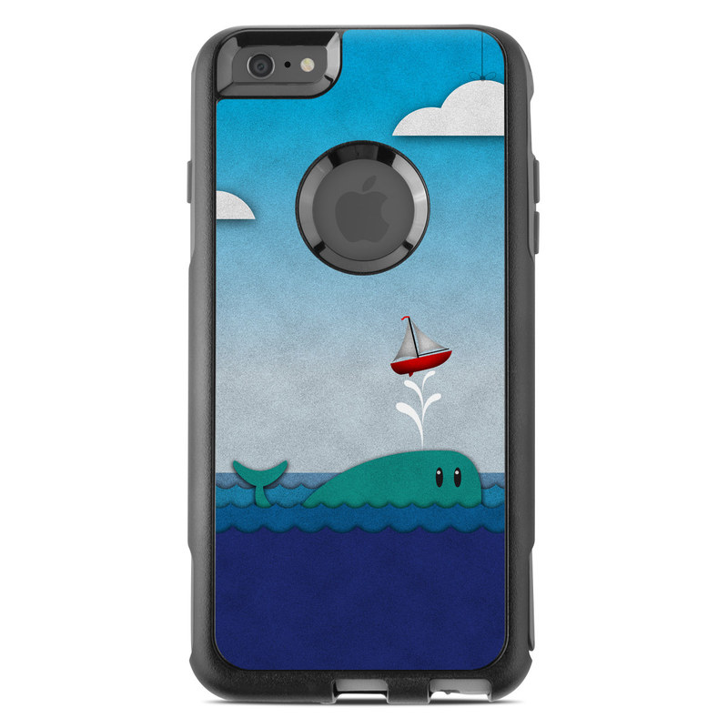 OtterBox Commuter iPhone 6s Plus Case Skin design of Illustration, Sky, Cloud, Games, Art with gray, blue, black colors