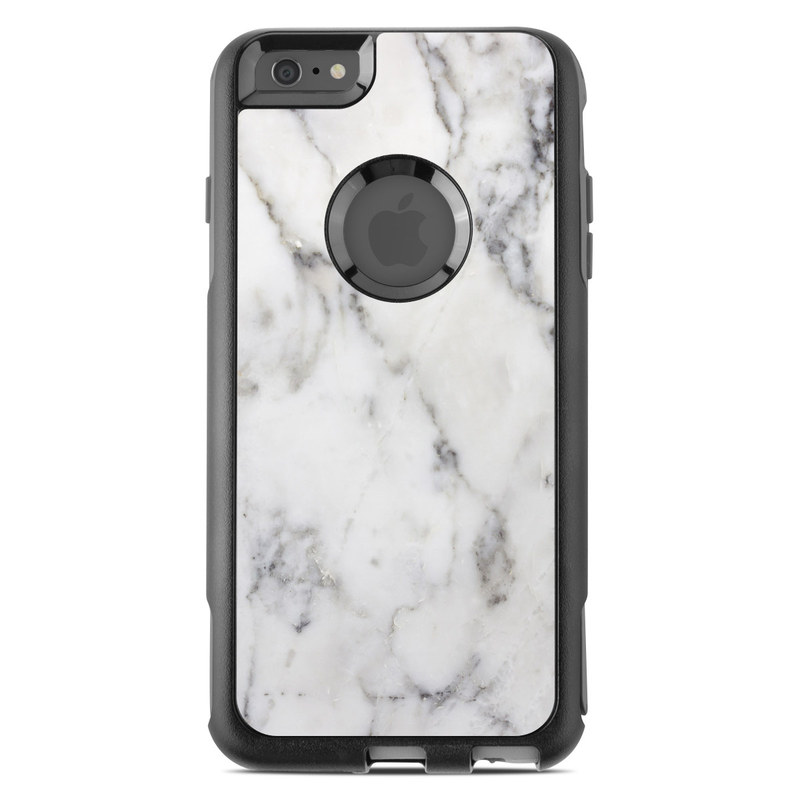 online retailer 77ba5 a066b White Marble OtterBox Commuter iPhone 6s Plus Case Skin
