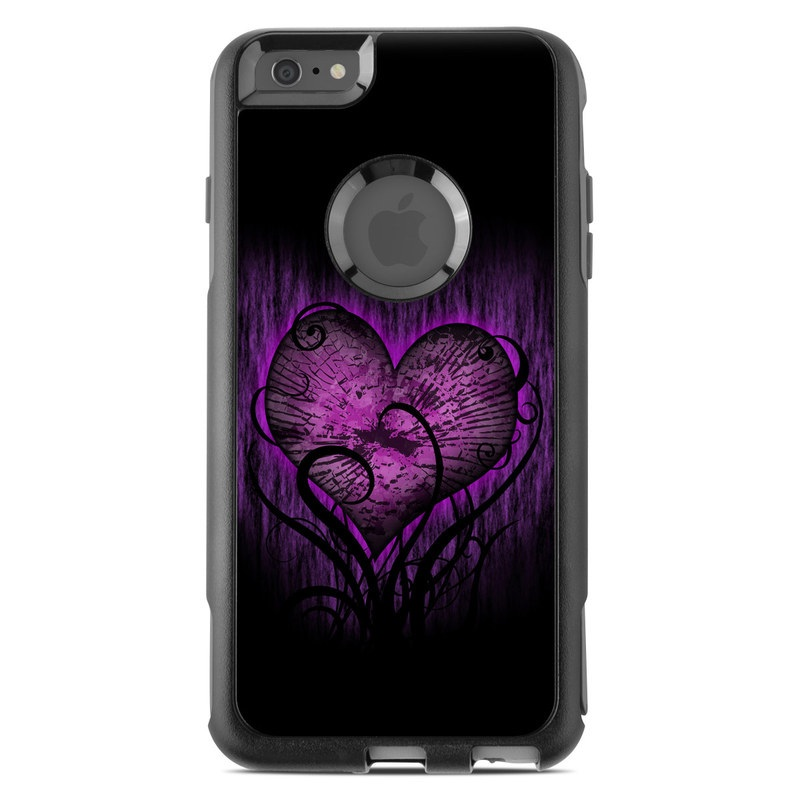 OtterBox Commuter iPhone 6s Plus Case Skin design of Purple, Heart, Violet, Pink, Red, Love, Organ, Magenta, Human body with black, purple, blue colors