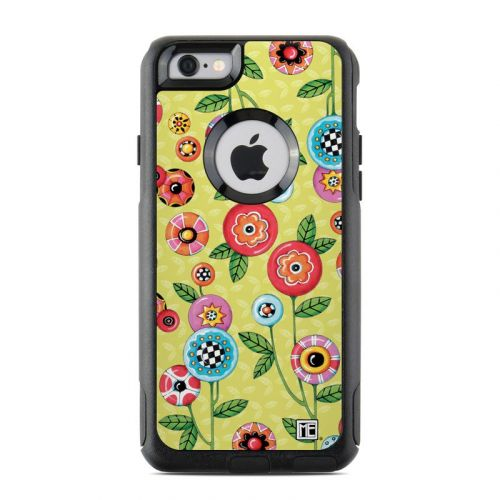 Button Flowers OtterBox Commuter iPhone 6s Skin