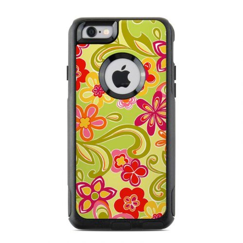 Hippie Flowers Hot Pink OtterBox Commuter iPhone 6s Case Skin