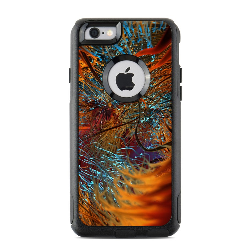 OtterBox Commuter iPhone 6s Case Skin design of Orange, Tree, Electric blue, Organism, Fractal art, Plant, Art, Graphics, Space, Psychedelic art with orange, blue, red, yellow, purple colors