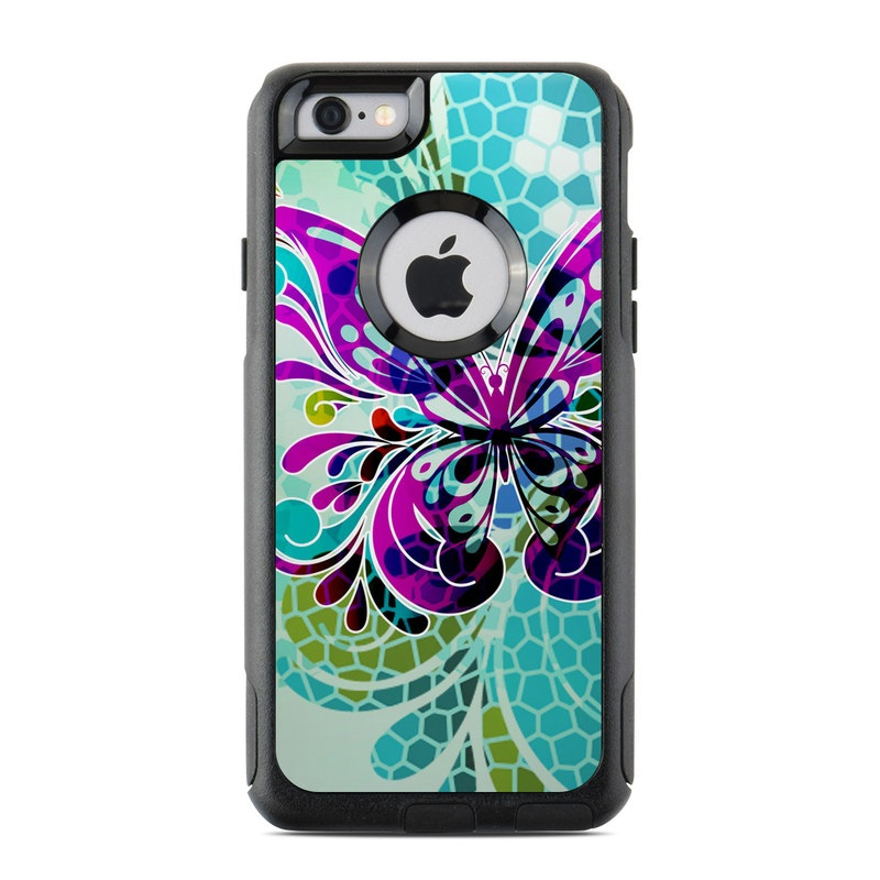 Butterfly Glass OtterBox Commuter iPhone 6s Skin