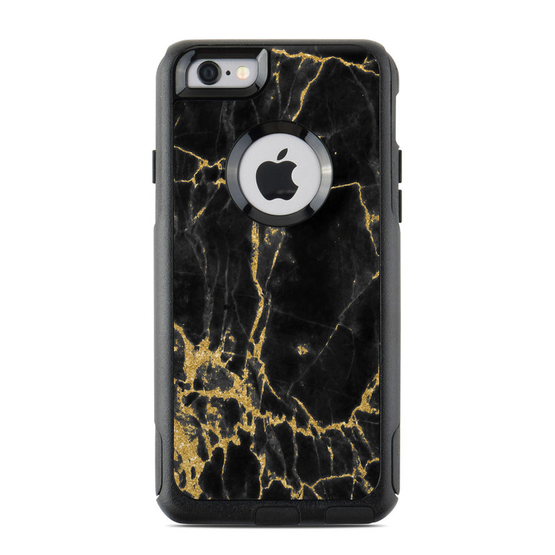 Black Gold Marble OtterBox Commuter iPhone 6s Skin