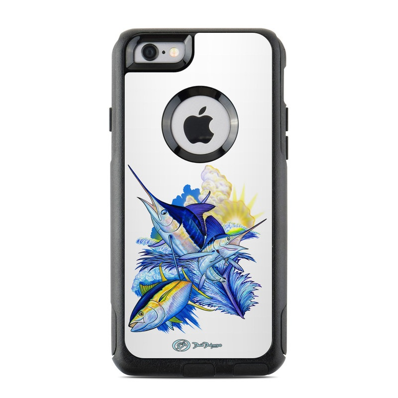 Blue White and Yellow OtterBox Commuter iPhone 6s Case Skin