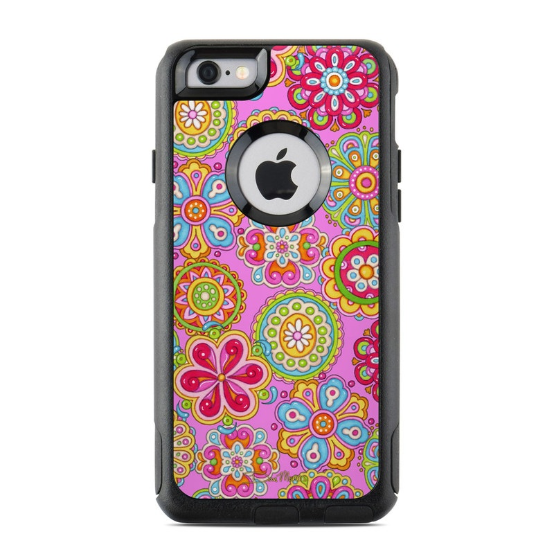 Bright Flowers OtterBox Commuter iPhone 6s Case Skin