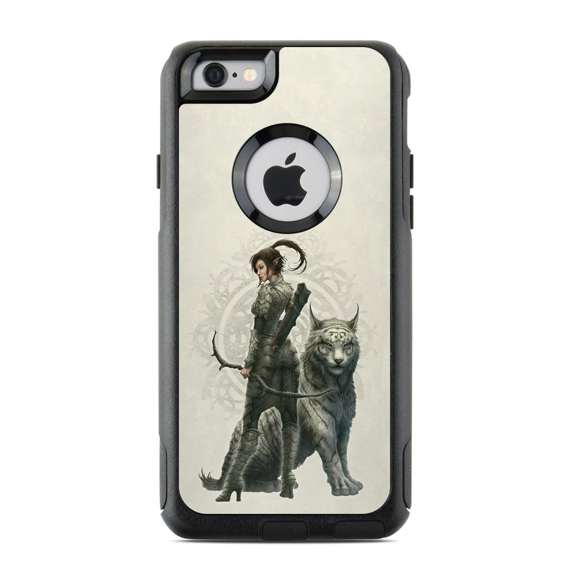 OtterBox Commuter iPhone 6s Case Skin design of Illustration, Fictional character, Drawing, Woman warrior, Art, Mythology, Sketch with gray, black, pink, yellow, green colors