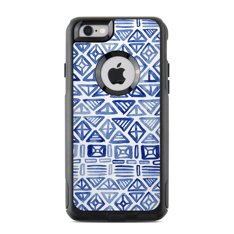 OtterBox Commuter iPhone 6s Case Skin design of Pattern, Line, Design, Symmetry, Visual arts, Parallel with white, blue colors