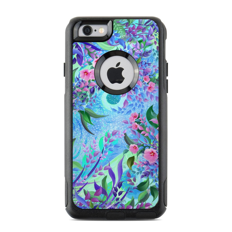 OtterBox Commuter iPhone 6s Case Skin design of Psychedelic art, Pattern, Lilac, Purple, Art, Pink, Design, Fractal art, Visual arts, Organism with gray, blue, purple colors