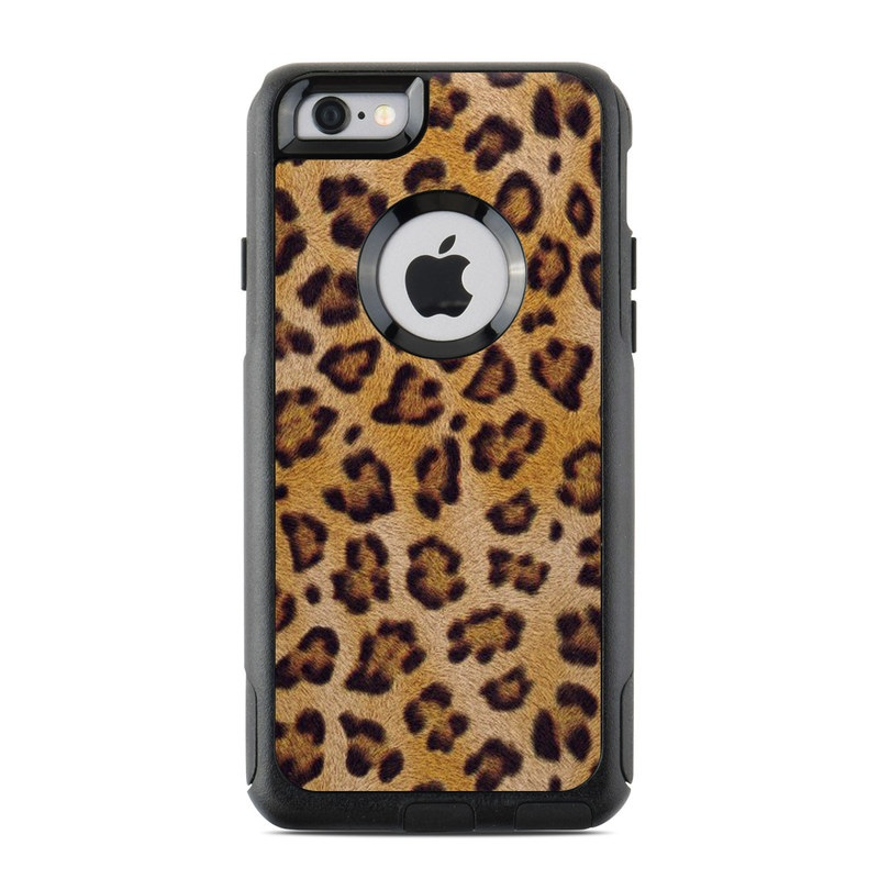 OtterBox Commuter iPhone 6s Case Skin design of Pattern, Felidae, Fur, Brown, Design, Terrestrial animal, Close-up, Big cats, African leopard, Organism with orange, black colors