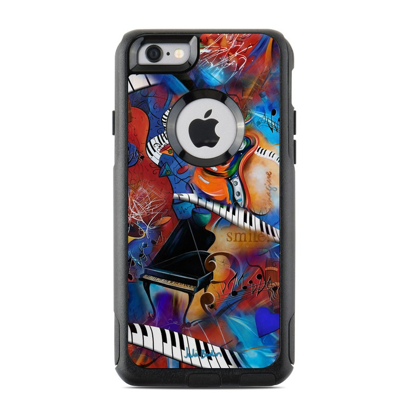 OtterBox Commuter iPhone 6s Case Skin design of Art, Graffiti, Mural, Modern art, Street art, Psychedelic art, Fictional character, Graphic design, Visual arts, Animated cartoon with black, red, blue, gray, green colors