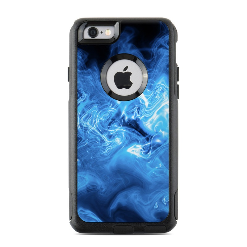 OtterBox Commuter iPhone 6s Case Skin design of Blue, Water, Electric blue, Organism, Pattern, Smoke, Liquid, Art with blue, black, purple colors
