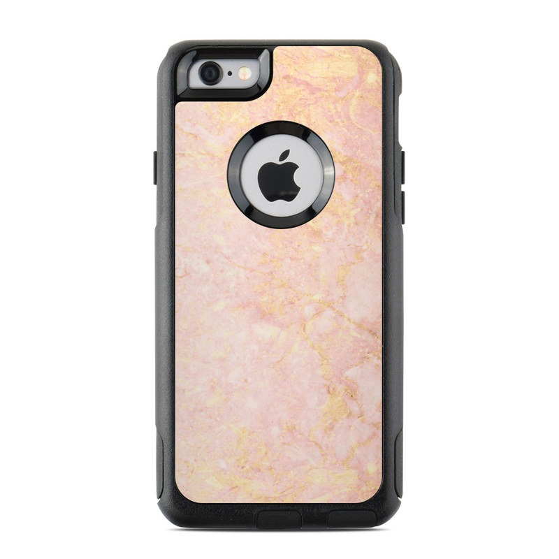 official photos 6b18c cfd60 Rose Gold Marble OtterBox Commuter iPhone 6s Case Skin