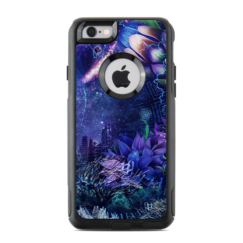OtterBox Commuter iPhone 6s Case Skin design of Blue, Purple, Violet, Lavender, Majorelle blue, Psychedelic art, Electric blue, Organism, Art, Design with blue, green, purple, red, pink colors