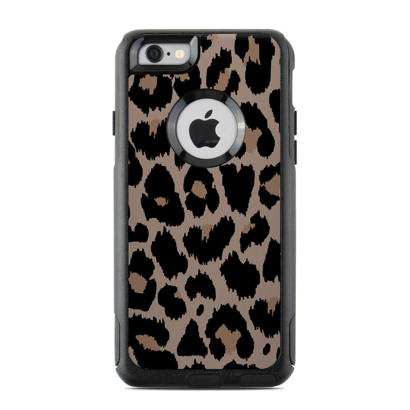 OtterBox Commuter iPhone 6s Case Skin design of Pattern, Brown, Fur, Design, Textile, Monochrome, Fawn with black, gray, red, green colors