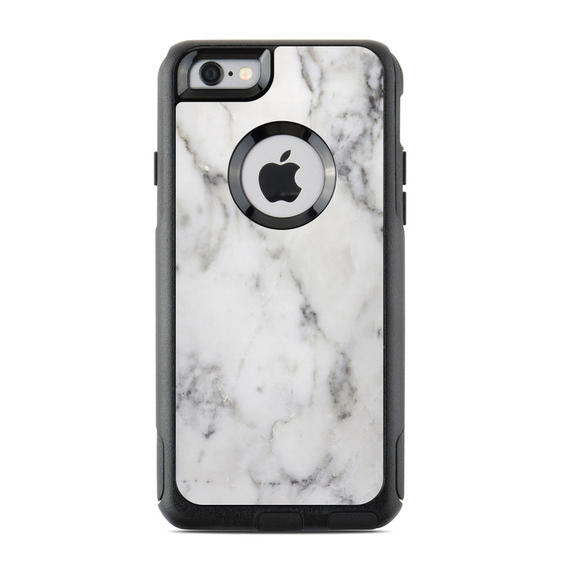 4342837253 OtterBox Commuter iPhone 6s Case Skin design of White, Geological  phenomenon, Marble, Black