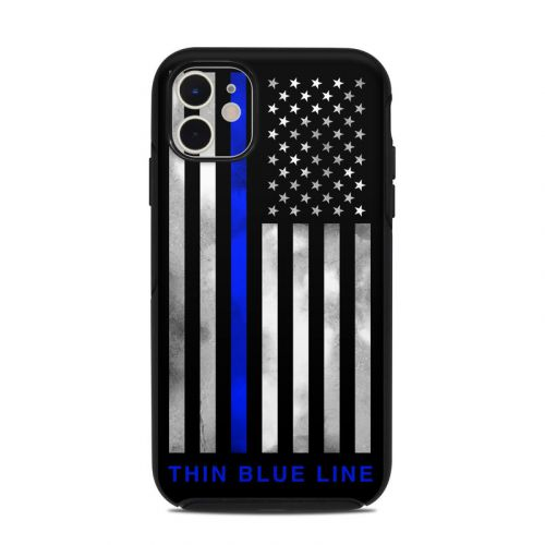 Thin Blue Line OtterBox Symmetry iPhone 11 Case Skin