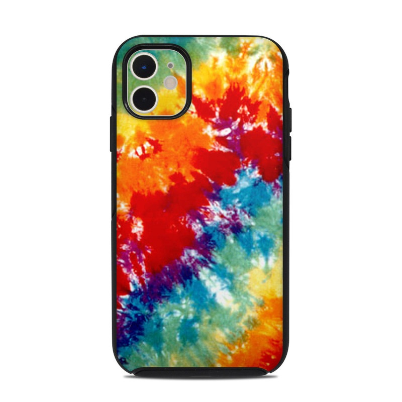 OtterBox Symmetry iPhone 11 Case Skin design of Orange, Watercolor paint, Sky, Dye, Acrylic paint, Colorfulness, Geological phenomenon, Art, Painting, Organism with red, orange, blue, green, yellow, purple colors