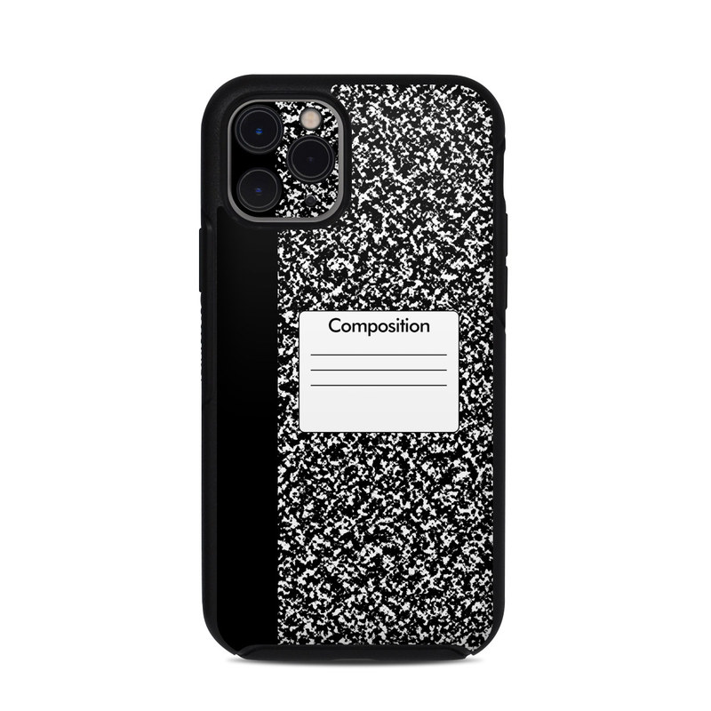 OtterBox Symmetry iPhone 11 Pro Case Skin design of Text, Font, Line, Pattern, Black-and-white, Illustration with black, gray, white colors