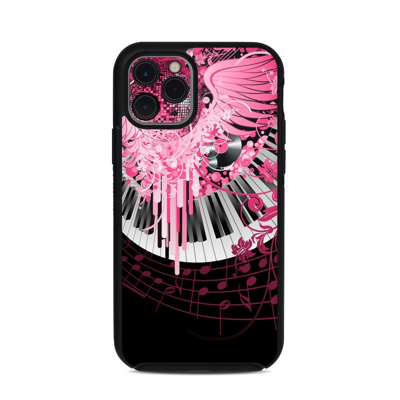 OtterBox Symmetry iPhone 11 Pro Case Skin design of Pink, Graphic design, Purple, Illustration, Design, Pattern, Magenta, Graphics, Font, Plant with black, gray, purple, pink, red, white colors