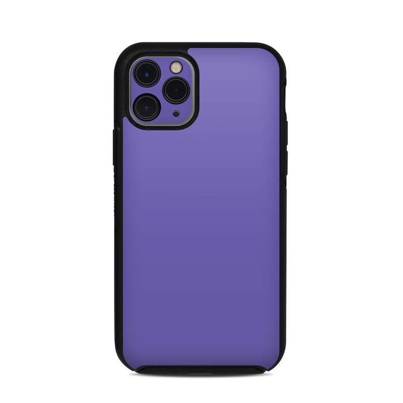 OtterBox Symmetry iPhone 11 Pro Case Skin design of Blue, Violet, Sky, Purple, Daytime, Black, Lilac, Cobalt blue, Pink, Azure with purple colors