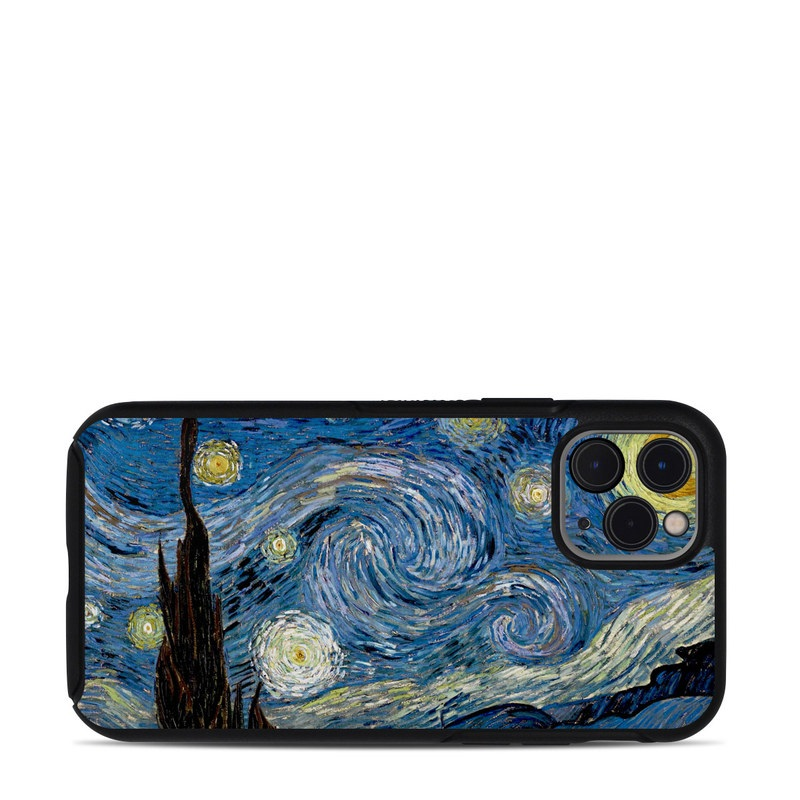 OtterBox Symmetry iPhone 11 Pro Case Skin design of Painting, Purple, Art, Tree, Illustration, Organism, Watercolor paint, Space, Modern art, Plant with gray, black, blue, green colors