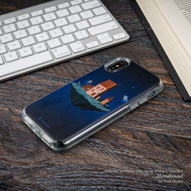 hot sale online 37527 c2652 Black Marble OtterBox Symmetry Clear iPhone X Case Skin