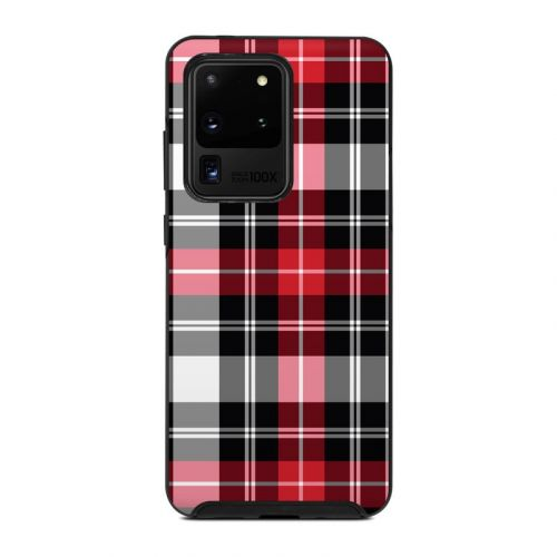 Red Plaid OtterBox Symmetry Galaxy S20 Ultra Case Skin
