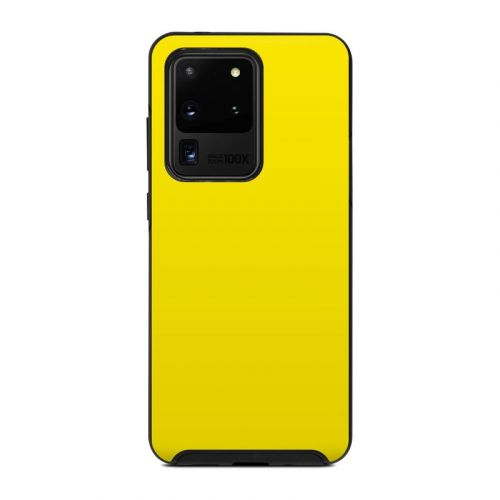 Solid State Yellow OtterBox Symmetry Galaxy S20 Ultra Case Skin