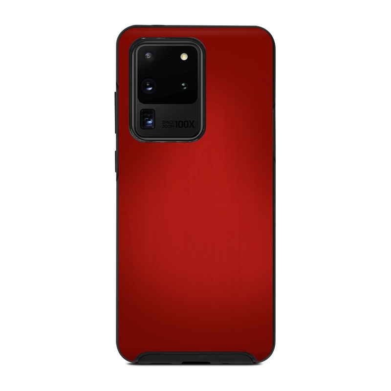 OtterBox Symmetry Galaxy S20 Ultra Case Skin design of Red, Maroon, Orange, Brown, Peach, Pattern, Magenta with red colors