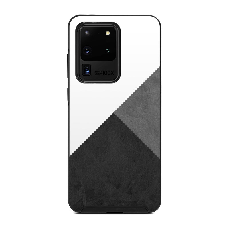 OtterBox Symmetry Galaxy S20 Ultra Case Skin design of Black, White, Black-and-white, Line, Grey, Architecture, Monochrome, Triangle, Monochrome photography, Pattern with white, black, gray colors