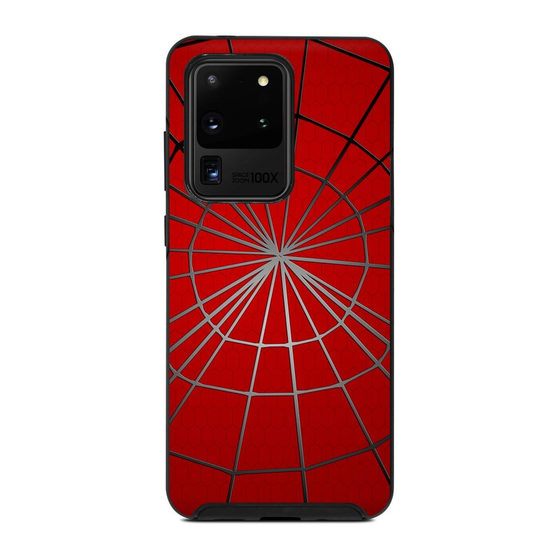 OtterBox Symmetry Galaxy S20 Ultra Case Skin design of Red, Symmetry, Circle, Pattern, Line with red, black, gray colors
