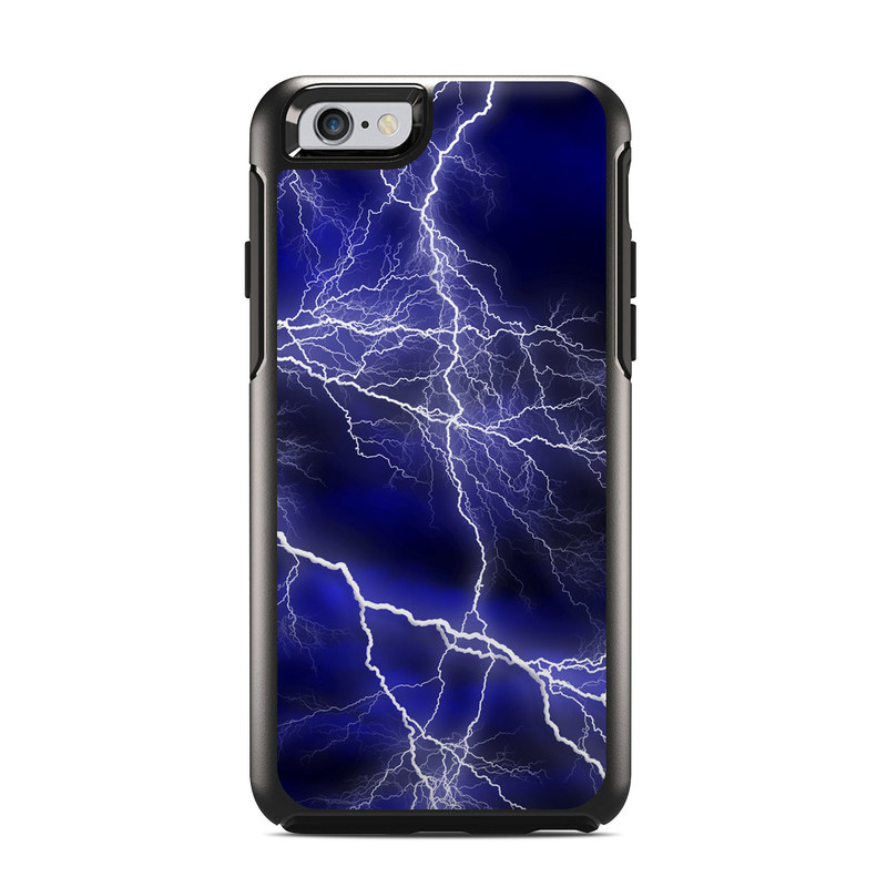 OtterBox Symmetry iPhone 6s Case Skin design of Thunder, Lightning, Thunderstorm, Sky, Nature, Electric blue, Atmosphere, Daytime, Blue, Atmospheric phenomenon with blue, black, white colors