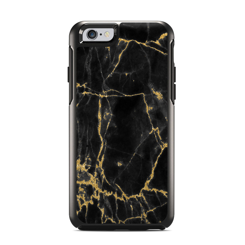 the latest 2febe 9a8c2 Black Gold Marble OtterBox Symmetry iPhone 6s Case Skin