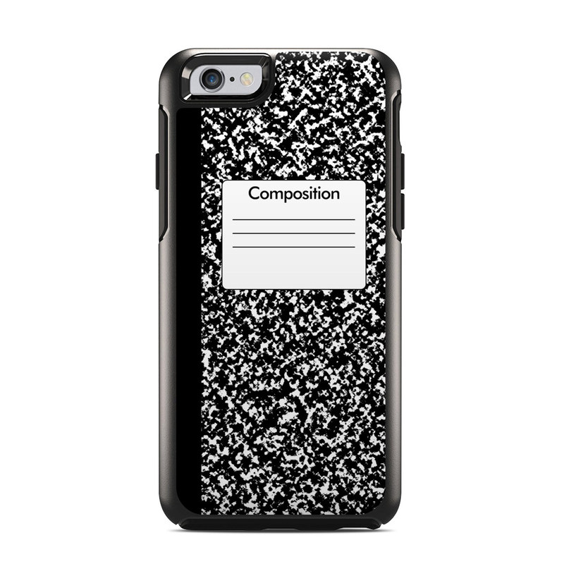 OtterBox Symmetry iPhone 6s Case Skin design of Text, Font, Line, Pattern, Black-and-white, Illustration with black, gray, white colors
