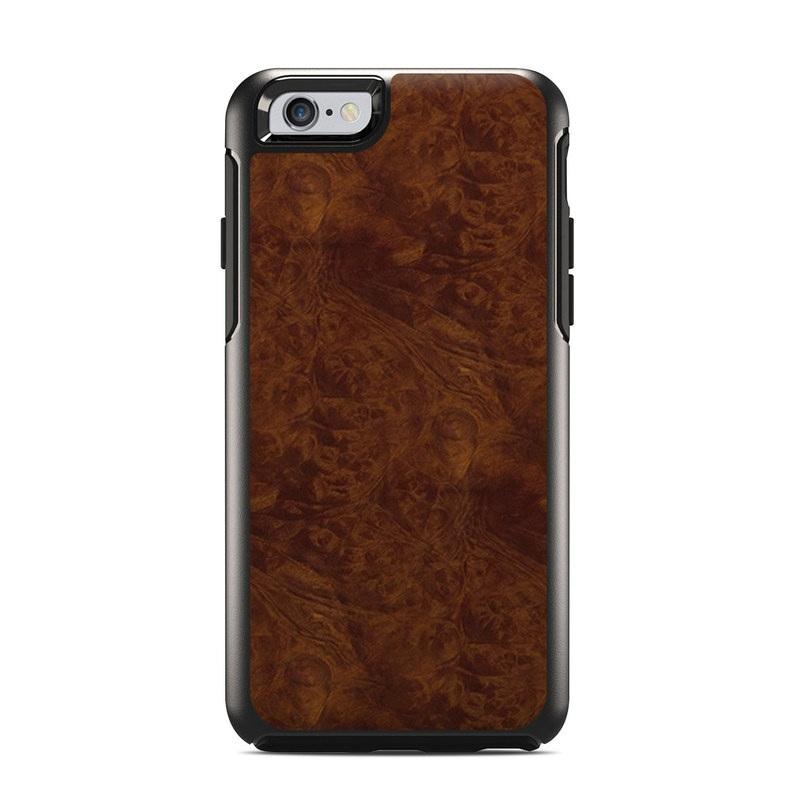 Dark Burlwood OtterBox Symmetry iPhone 6s Case Skin