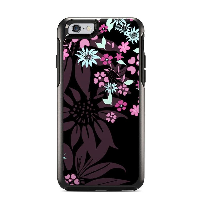 Dark Flowers OtterBox Symmetry iPhone 6s Skin