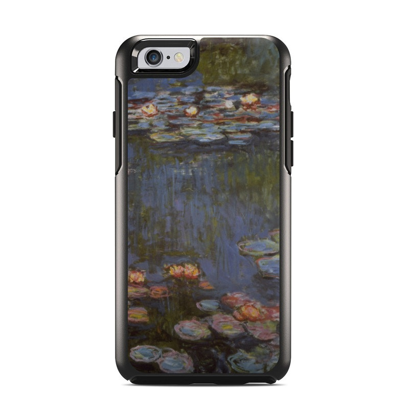 OtterBox Symmetry iPhone 6s Case Skin design of Pond, Water, Painting, Watercourse, water lily, Reflection, Aquatic plant, Leaf, Fish pond, Still life with black, blue, gray, red, green colors