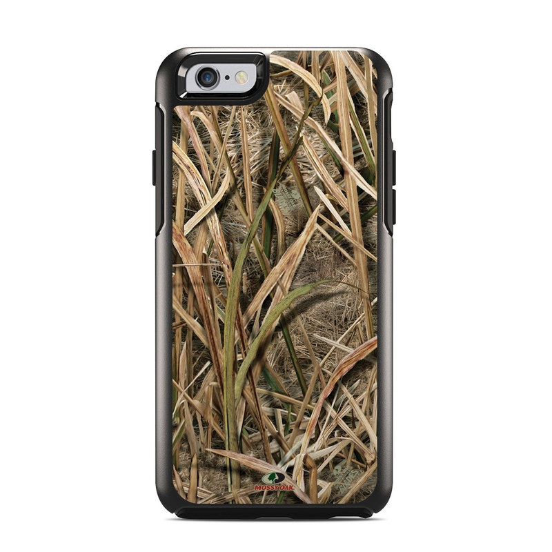 OtterBox Symmetry iPhone 6s Case Skin design of Grass, Straw, Plant, Grass family, Twig, Adaptation, Agriculture with black, green, gray, red colors