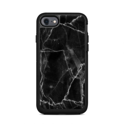 Black Marble OtterBox Symmetry iPhone 8 Case Skin