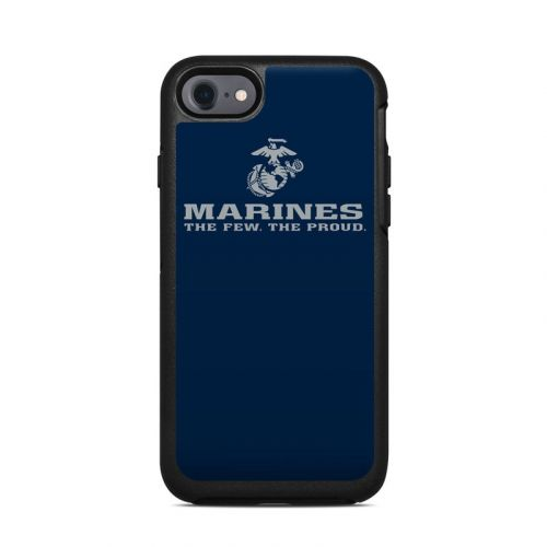 USMC Blue OtterBox Symmetry iPhone 8 Case Skin