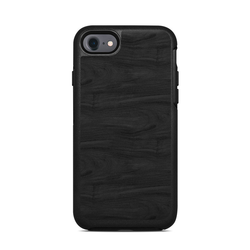 Black Woodgrain OtterBox Symmetry iPhone 8 Case Skin