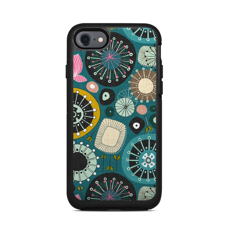 Blooms Teal OtterBox Symmetry iPhone 7 Skin