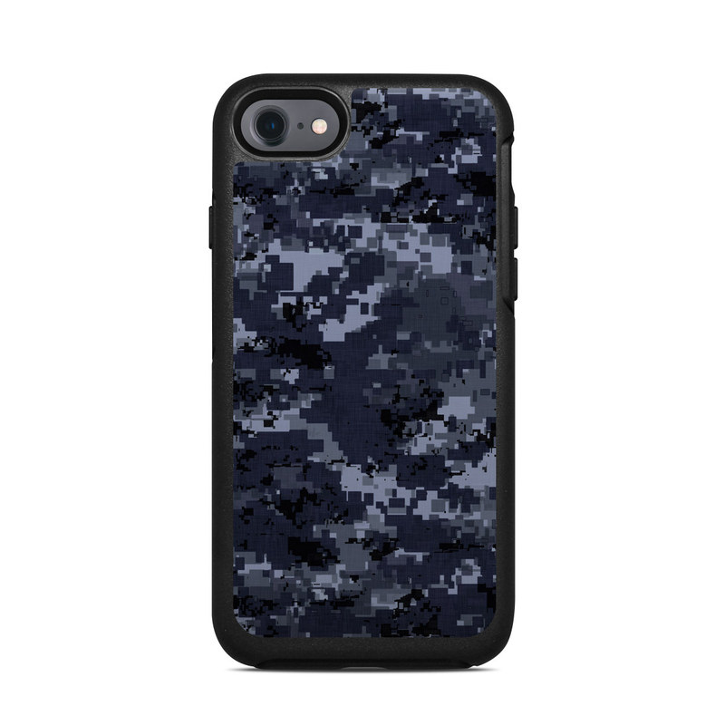 Digital Navy Camo OtterBox Symmetry iPhone 7 Skin