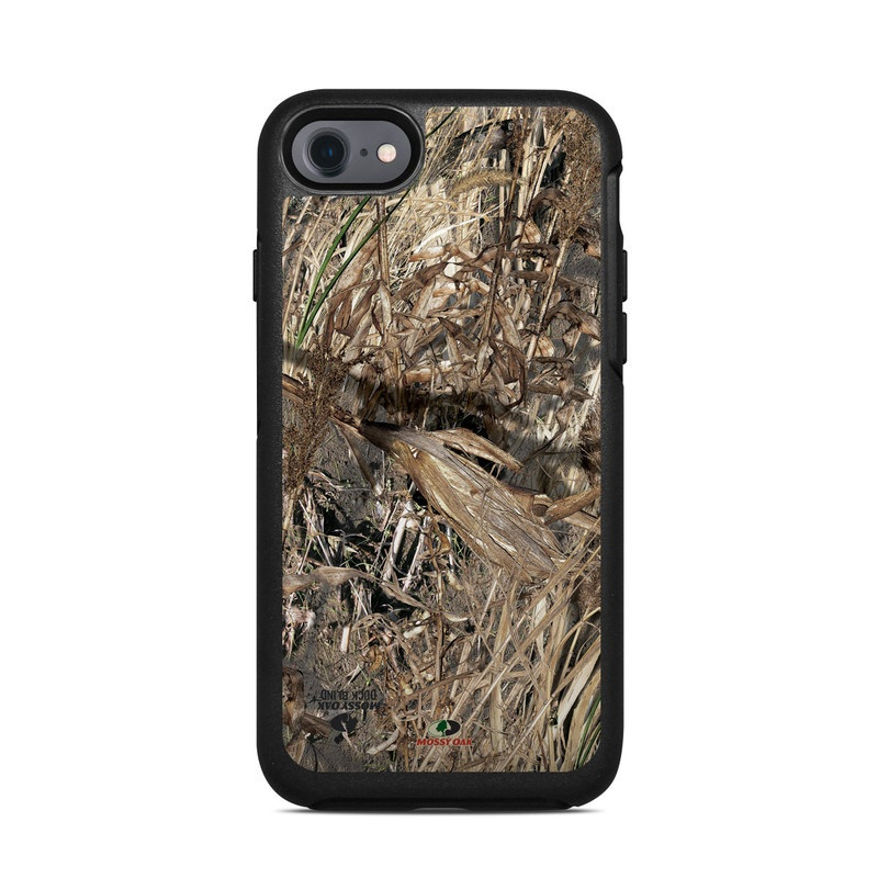 OtterBox Symmetry iPhone 8 Case Skin design of Soil, Plant with black, gray, green, red colors