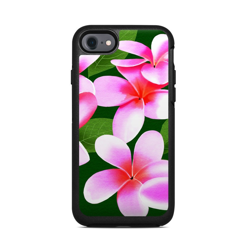 Pink Plumerias OtterBox Symmetry iPhone 7 Skin